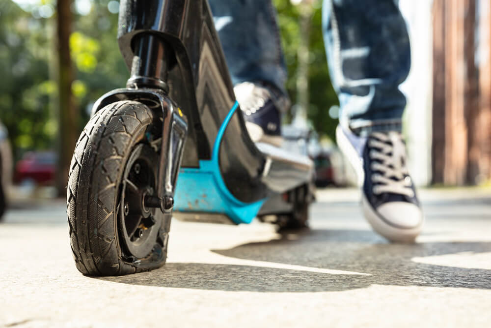 electric scooter flat preumatic tire