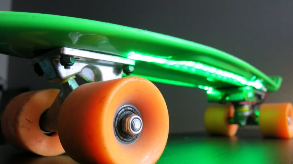 Skateboard underglow lights